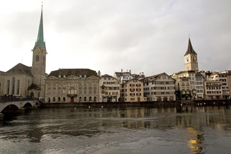 Vista turistica di Zurigo - 08 fotografia stock