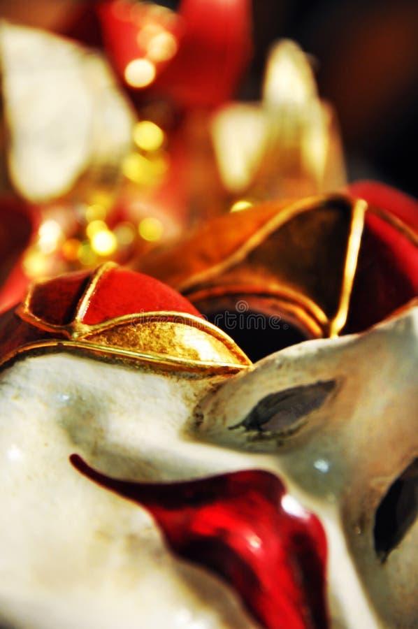 Vista unica del fondo della maschera veneziana astratta della carta da parati fotografia stock