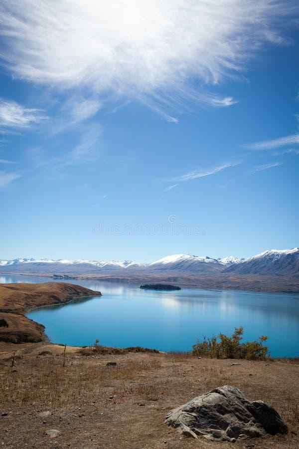 Vista unica della Nuova Zelanda fotografia stock libera da diritti