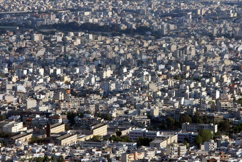 Vista urbana della città per priorità bassa fotografia stock libera da diritti