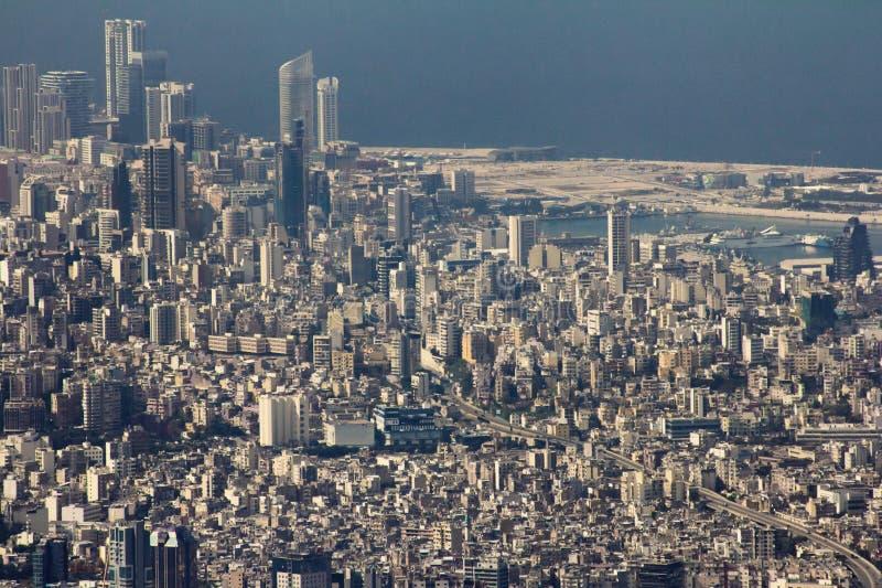 Vista urbana di paesaggio urbano di Beirut fotografia stock libera da diritti