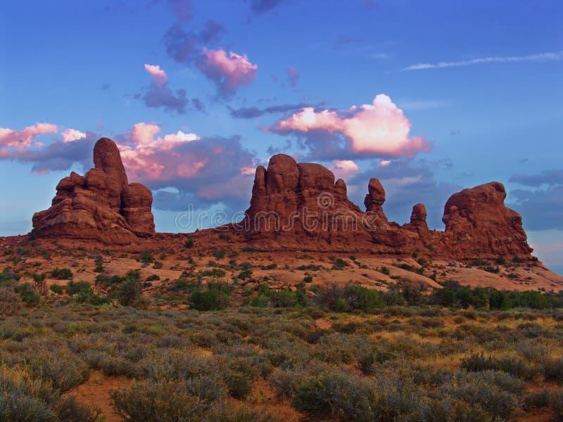 Vista UTAH - S.U.A. di paesaggio immagini stock