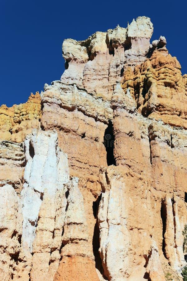 Vista vertical de las rocas famosas del hoodoo foto de archivo libre de regalías