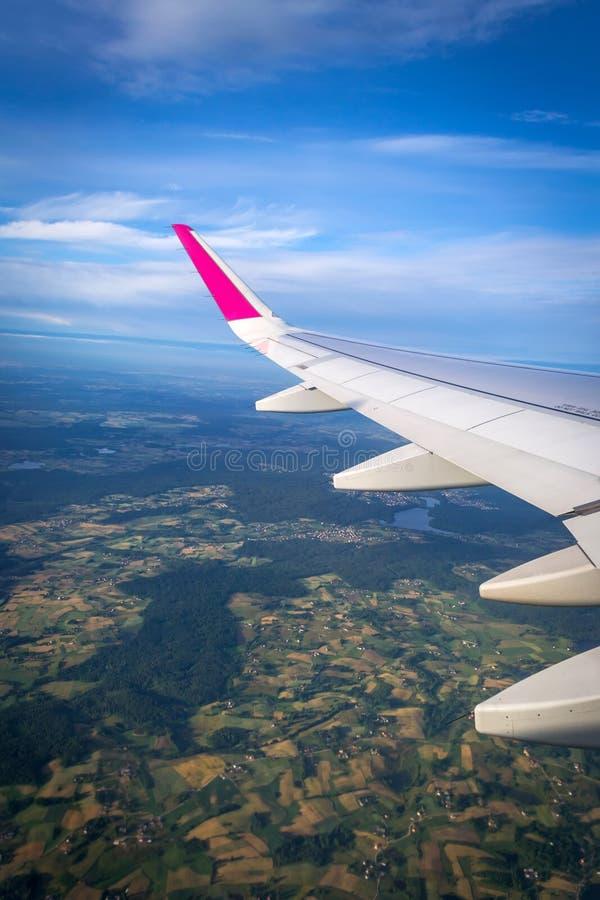 Vista verticale dall'aereo fotografia stock libera da diritti