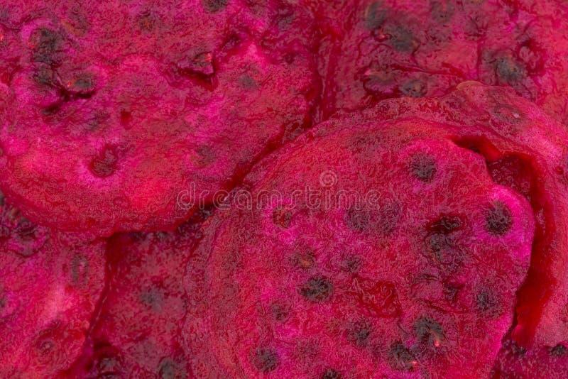 Vista vicina delle fette di pera del cactus fotografia stock libera da diritti