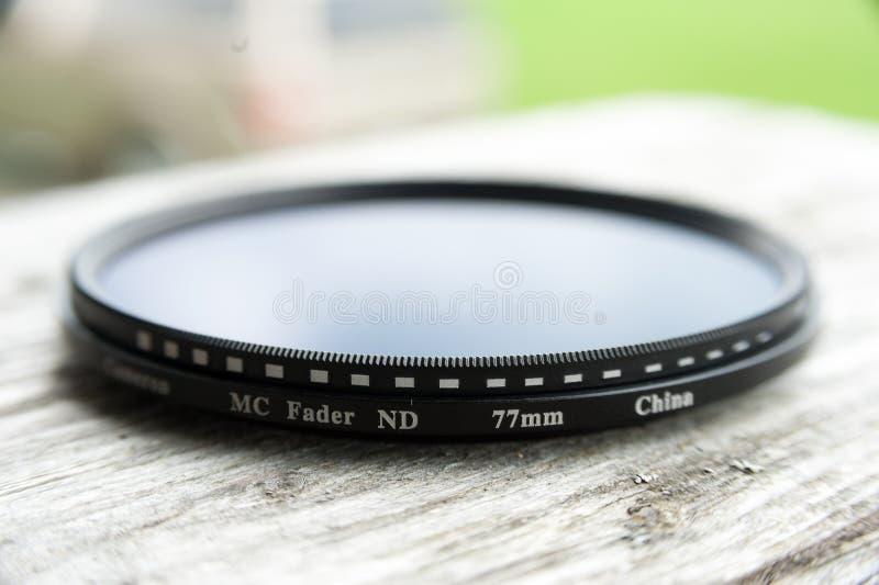 Vista vicina di una lente del fader fotografia stock libera da diritti