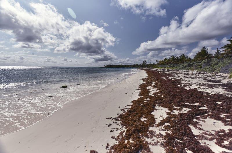 Vista Xpu-ha de la playa #2 foto de archivo libre de regalías
