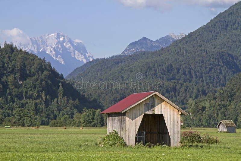 Vista a Zugspitze imagen de archivo