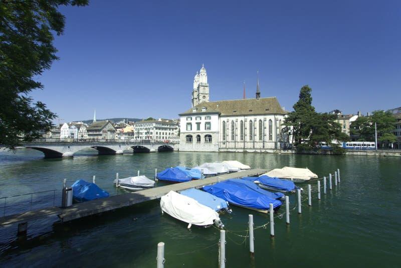 Vista a Zurigo, Svizzera immagini stock