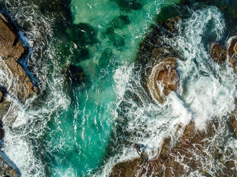 Vistas aéreas da costa Illawarra de Austinmer imagens de stock royalty free