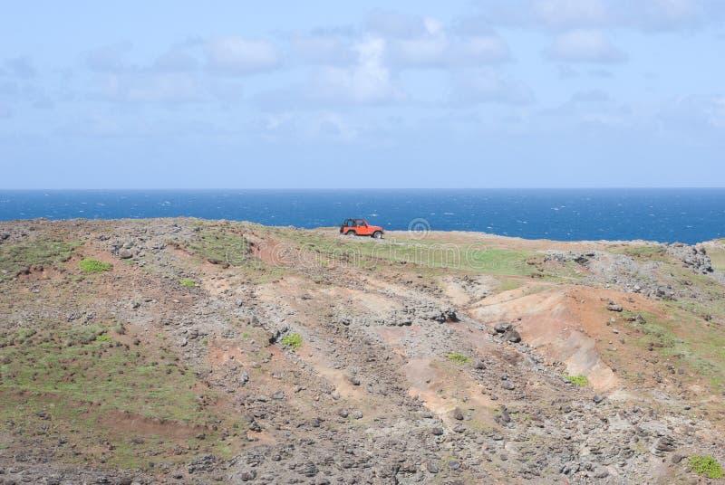 Vistas bonitas da costa norte de Maui, tomadas da estrada de enrolamento famosa a Hana Maui, Havaí imagem de stock