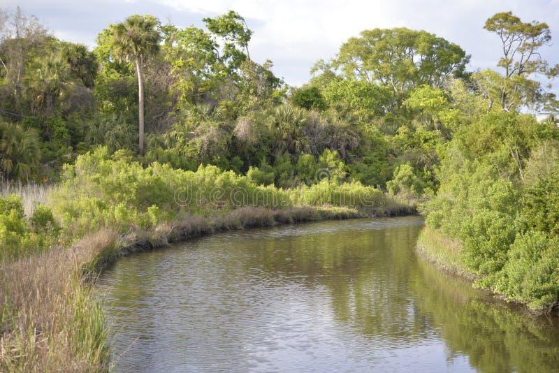 Vistas bonitas em torno de cada curvatura no rio do Greenway fotografia de stock
