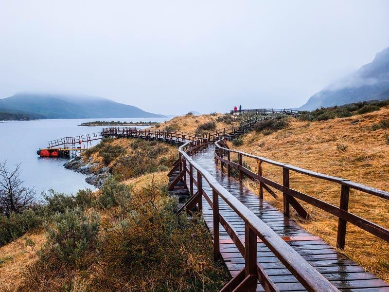 Vistas cênicos do parque nacional Tierra del Fuego, Ushuaia, Argentina, Patagonia imagem de stock
