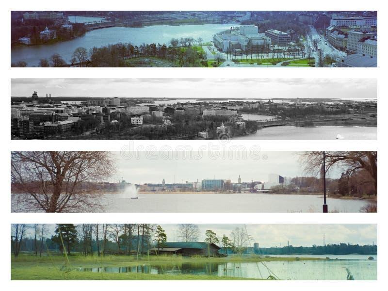 Vistas da cidade de Helsínquia fotografia de stock