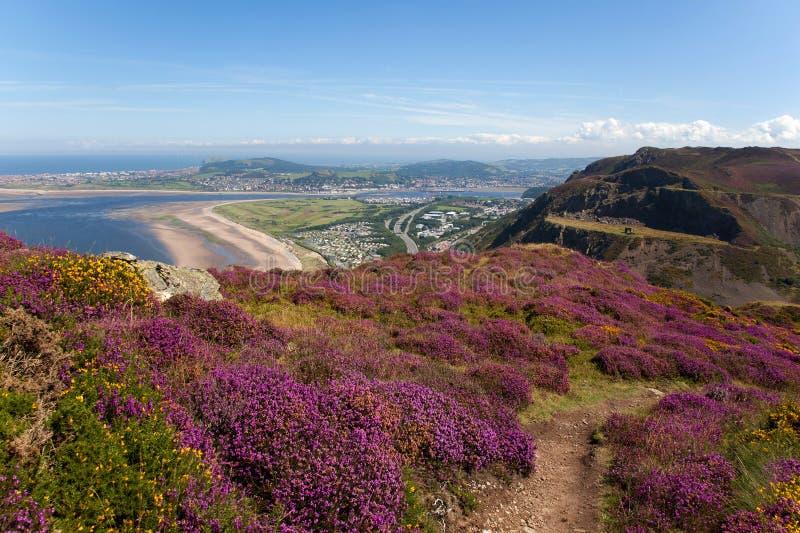 Vistas da montanha de Conwy imagens de stock royalty free