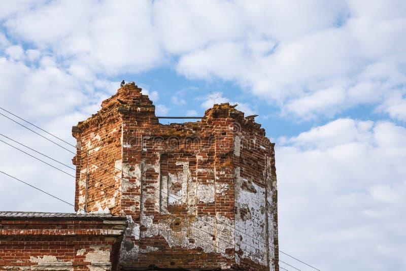 Vistas da região de Saratov Construção histórica na região de Volga de século XIX de Rússia 1872 anos Uma série de fotografias de foto de stock royalty free