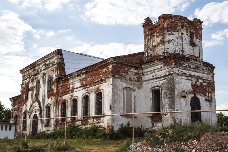 Vistas da região de Saratov Construção histórica na região de Volga de século XIX de Rússia 1872 anos Uma série de fotografias de fotos de stock