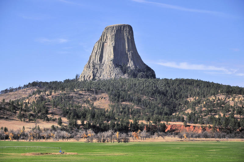 Vistas da torre dos diabos foto de stock royalty free