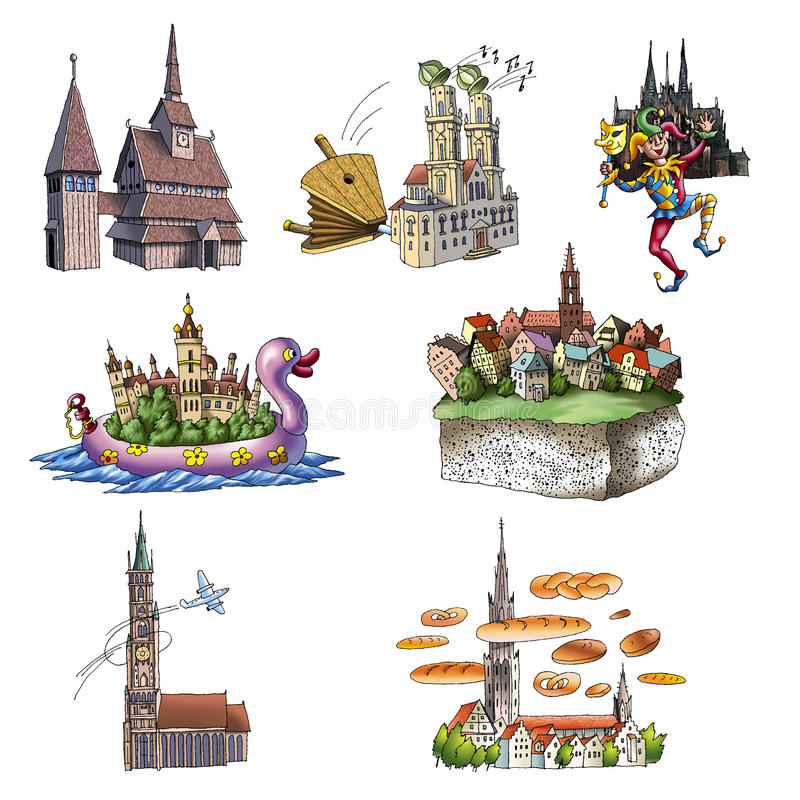 Vistas de Alemanha ilustração royalty free