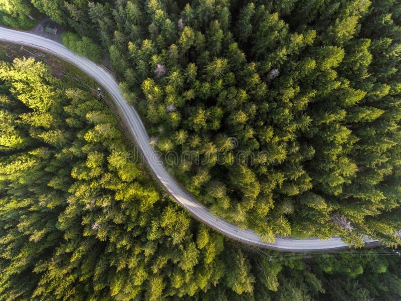 Vistas de drones a los hermosos paisajes de Vancouver y el Valle Fraser imagen de archivo libre de regalías