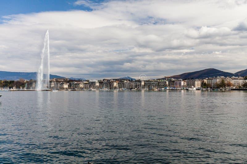 Vistas de Ginebra el 11 de abril de 2015 fotos de archivo