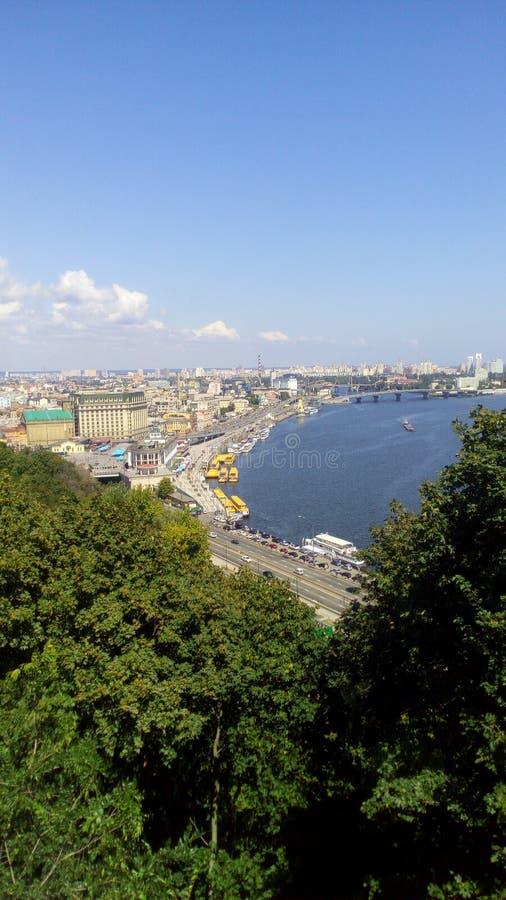 Vistas de Kiev Kiev cuadrada postal Ucrania foto de archivo libre de regalías