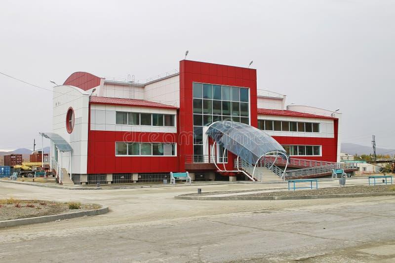 Vistas de la ciudad de Bilibino Piscina Rusia fotografía de archivo