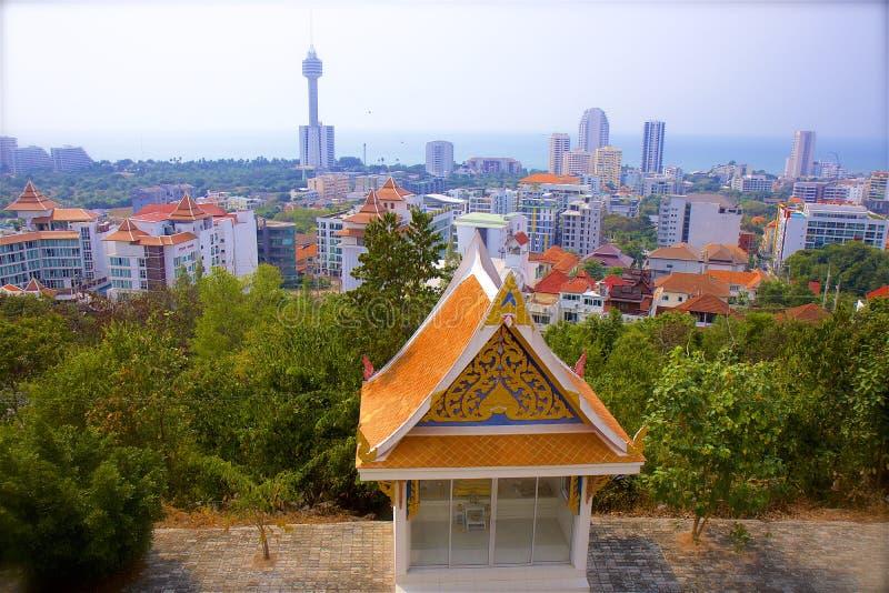 Vistas de la ciudad de Pattaya, Tailandia imagen de archivo