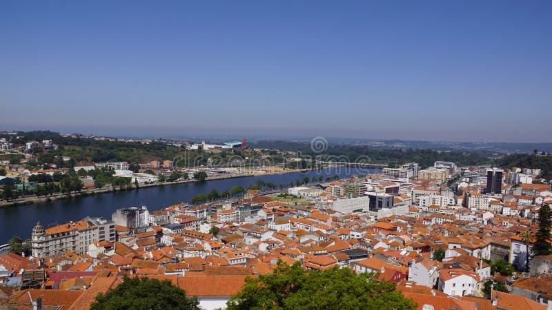 Vistas de la ciudad portuguesa Coímbra foto de archivo libre de regalías