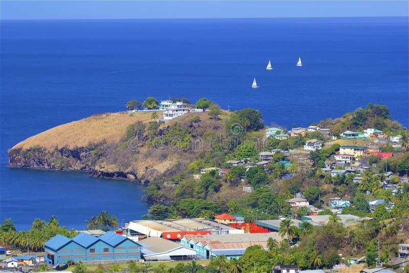 Vistas de St Vincent, el Caribe foto de archivo libre de regalías