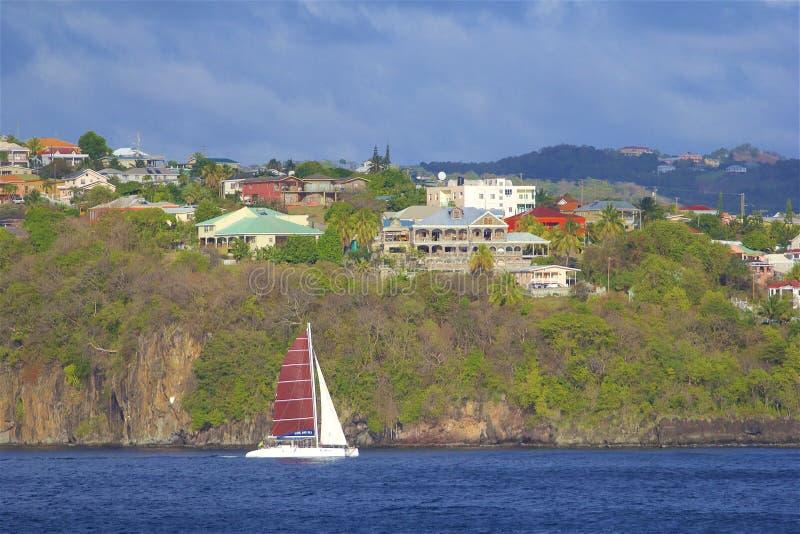 Vistas de St Vincent, el Caribe fotos de archivo libres de regalías