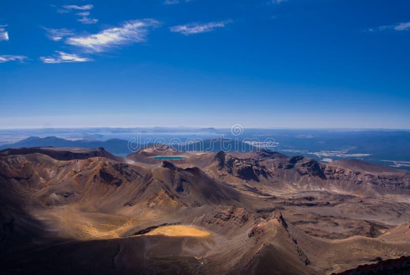 Vistas de Tongariro imagen de archivo