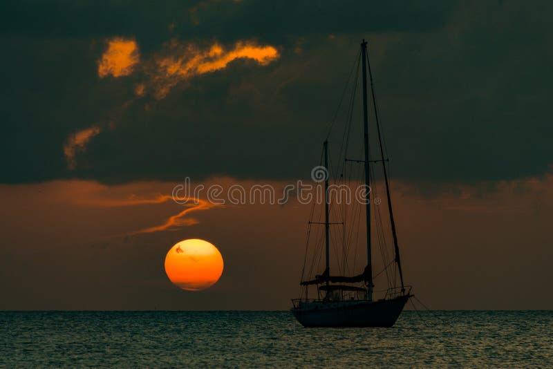Vistas del calafate Belice de Caye imagenes de archivo