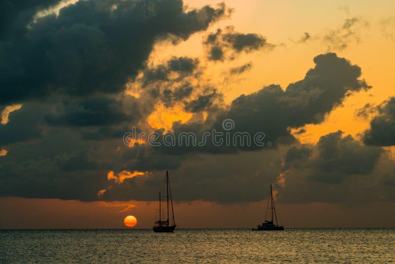 Vistas del calafate Belice de Caye fotos de archivo