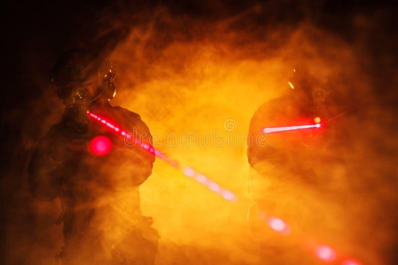 Vistas del laser en el humo fotos de archivo libres de regalías