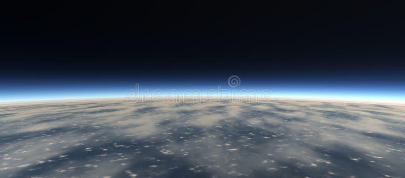 Vistas del planeta del espacio stock de ilustración