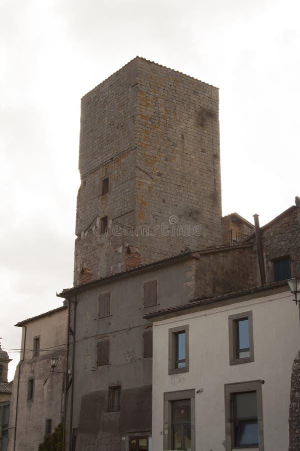 Vistas del pueblo histórico Santa Fiora Grosseto Italy fotografía de archivo libre de regalías