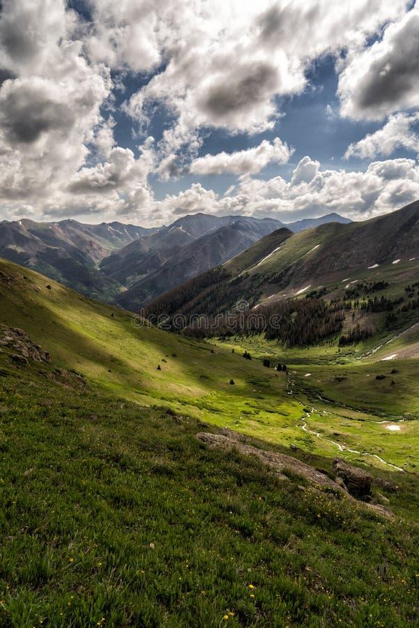 Vistas do pico de Handies San Juan Range, Colorado Rocky Mountains fotos de stock