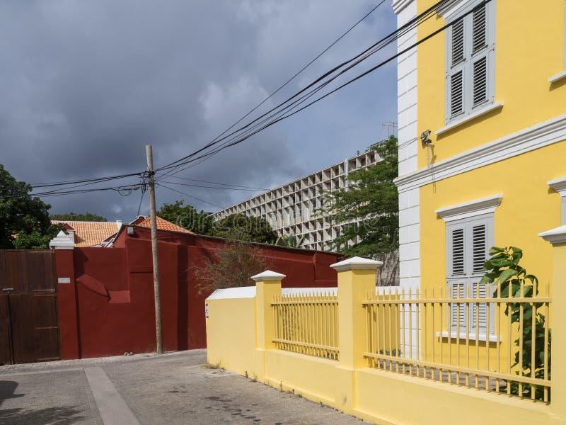 Vistas em torno do hospital de Otrobanda fotografia de stock