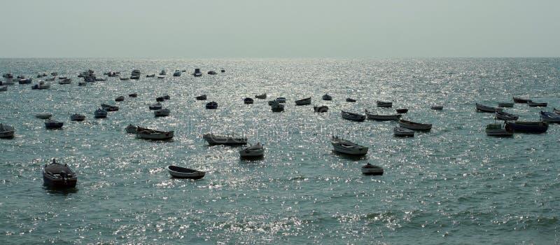 Vistas escénicas de Cádiz en Andaluc3ia, España - Océano Atlántico fotografía de archivo