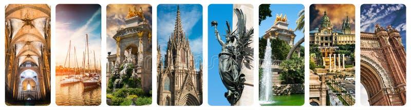 Vistas históricas de Barcelona imagens de stock