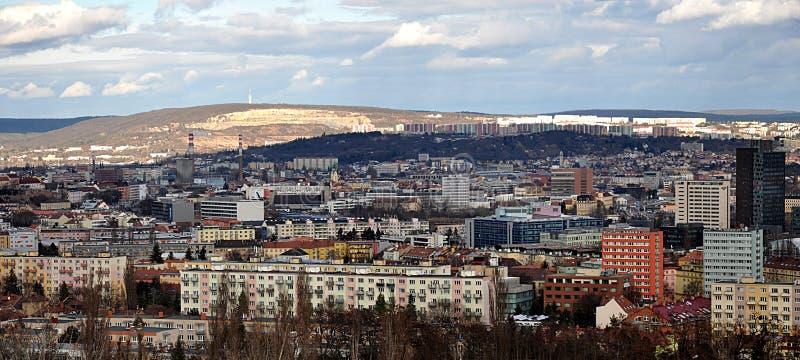 Vistas panorâmicas, cidade de Brno, República Checa fotografia de stock royalty free