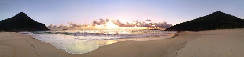 Vistas panorâmicas da praia do zênite fotos de stock