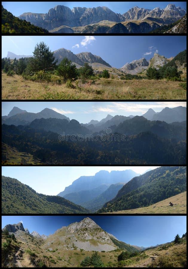 Vistas panorâmicas de Pyrenees imagens de stock