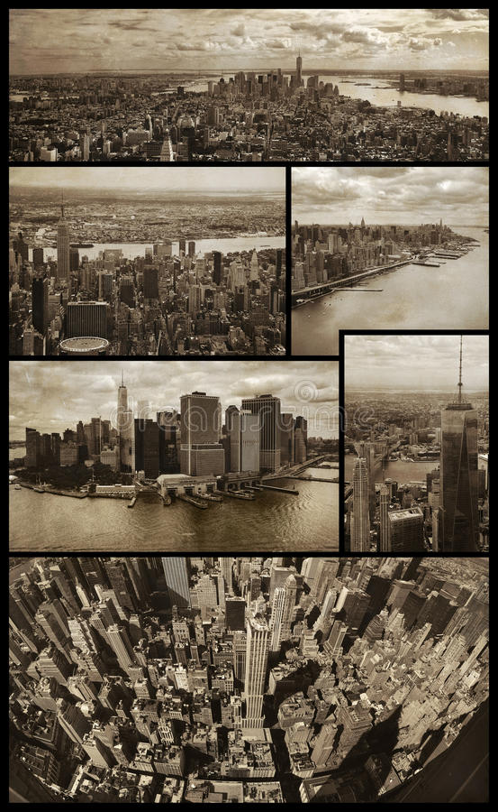 Viste aeree di Manhattan sul lerciume fotografia stock libera da diritti