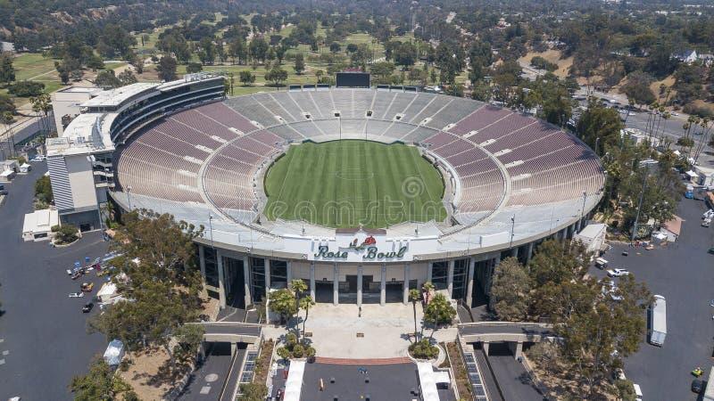 Viste aeree di Rose Bowl In Pasadena California fotografia stock libera da diritti