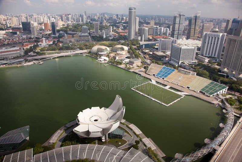 Viste aeree stupefacenti della città da Singapore fotografia stock libera da diritti
