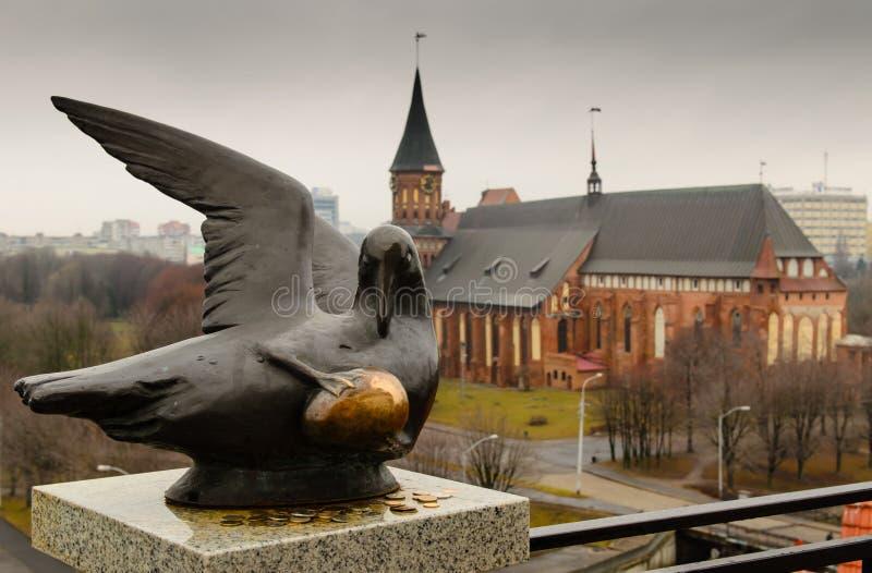 Viste classiche della cattedrale a Kaliningrad immagine stock libera da diritti
