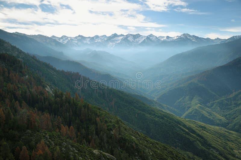 Viste da Moro Rock, parco nazionale della sequoia fotografia stock