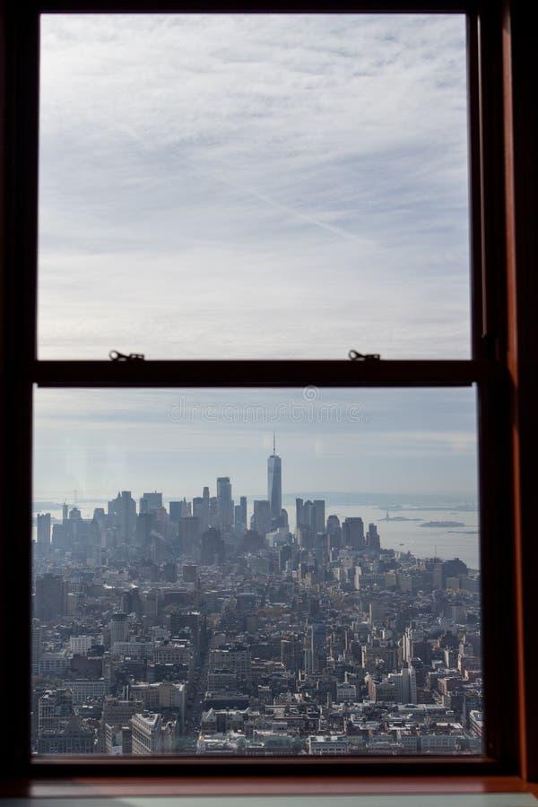 Viste dalla piattaforma di osservazione dell'Empire State Building fotografie stock libere da diritti